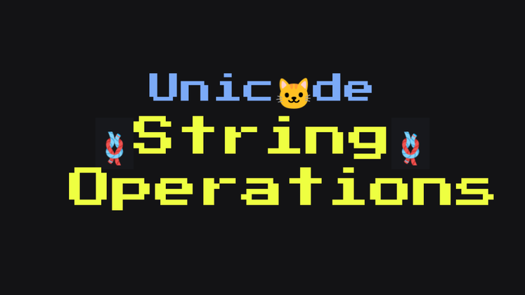 Cover image for Unicode String Operations