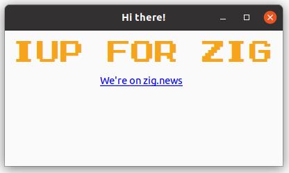 Hello ZigNew on Ubuntu